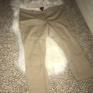 J.Crew khaki colored Minnie pants. Like new